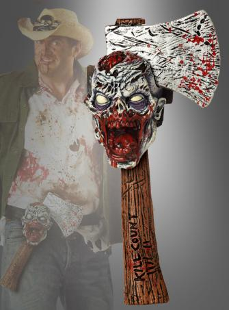 Zombie Hunter Axe with Trophy Head Belt
