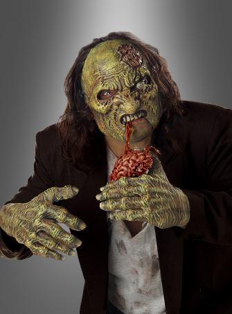 Zombie Gehirnfresser Maske und Hände
