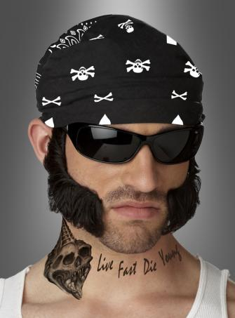 Biker Chops with Bandana