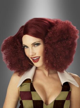 Disco Sensation Wig burgund