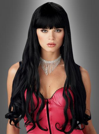 Serpentine wig black long