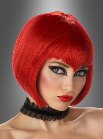 Vampire Vampiress wig short dark red