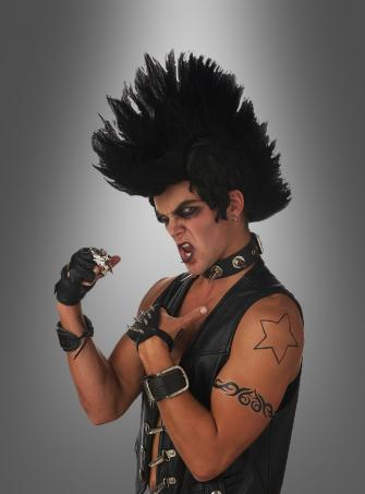 Monster Mohawk wig black for 8