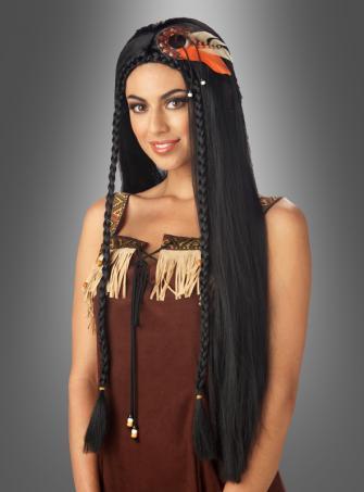 Indianerin Perücke