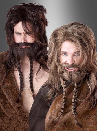 Wikinger Bart und Perücke