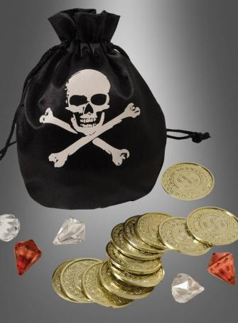 Pirate Pouch and Coin Set