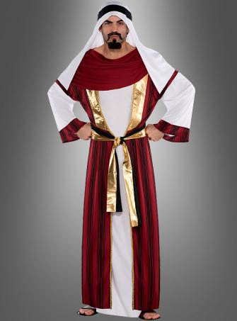 Araber Kostüm rot-weiß