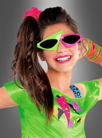 80er asymmetrische Sonnenbrille