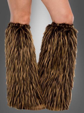 Brown Leg Warmers Deluxe