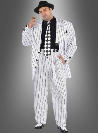 Pinstripe Daddy Gangster Costume Plus Size