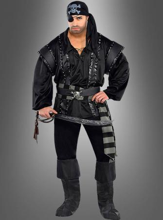 Black Scoundrel Pirate Costume Plus Size