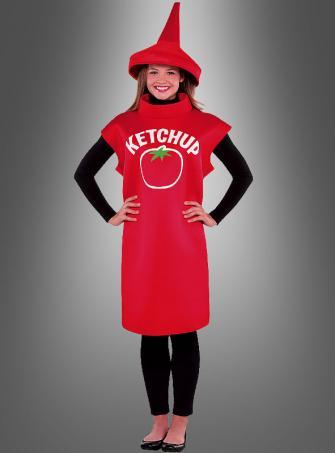 Ketchup Flasche Kostüm