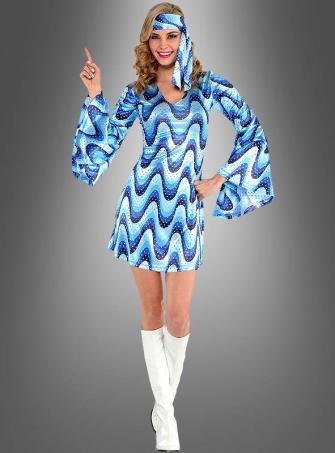 Disco Lady Dress Bluebird