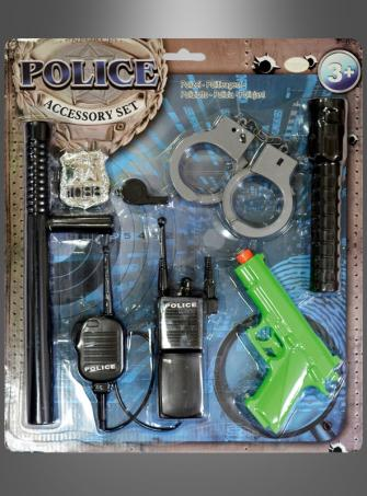 Großes Polizei Waffen Set für Kinder