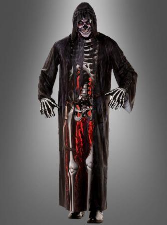 Skelett Kapuzenrobe Herren