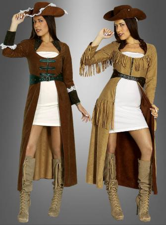 Changeable Pirate or Cowgirl Costume