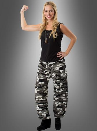 Soldatin Kostüm Camouflage