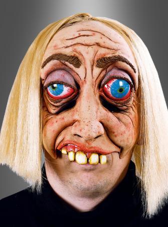 Dummkopf Maske mit blonden Haaren
