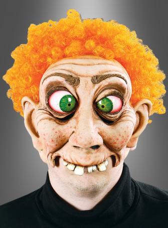 Dummkopf Maske mit orangefarbenen Haaren