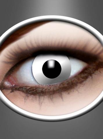 Weisse Kontaktlinsen mit Stärke Zombie