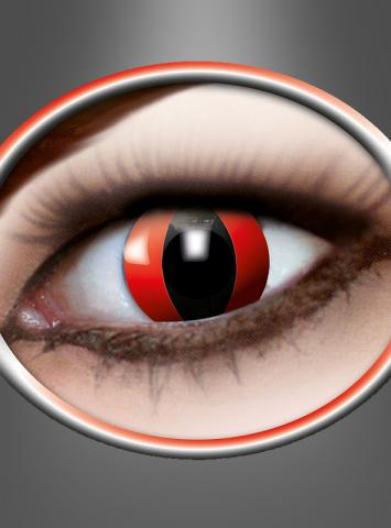 Kontaktlinsen Katzenauge rot