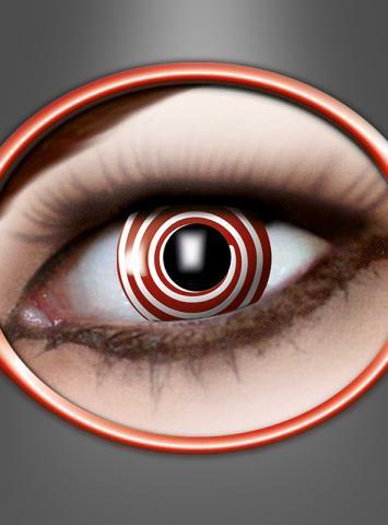 Kontaktlinsen Rote Spirale