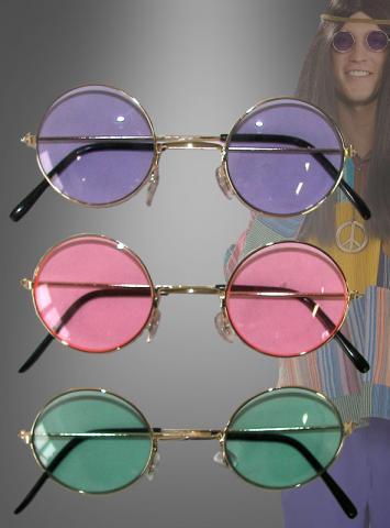 70er Jahre Hippie Nickelbrille