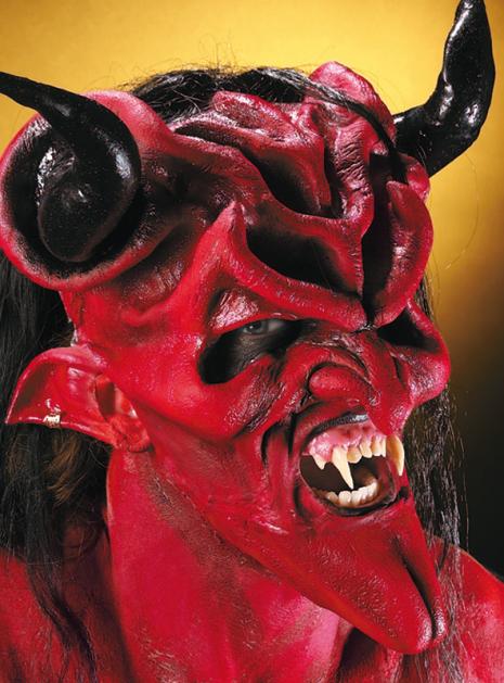 Höllenlord Teufel Latex Maskenset