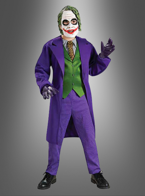 Joker Kostüm Kinder Deluxe aus Batman The Dark Knight