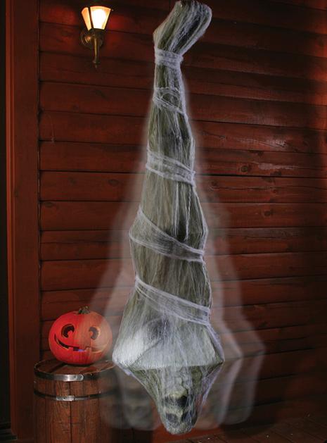 Wackelnder Spinnen Kokon Hängedeko 180 cm