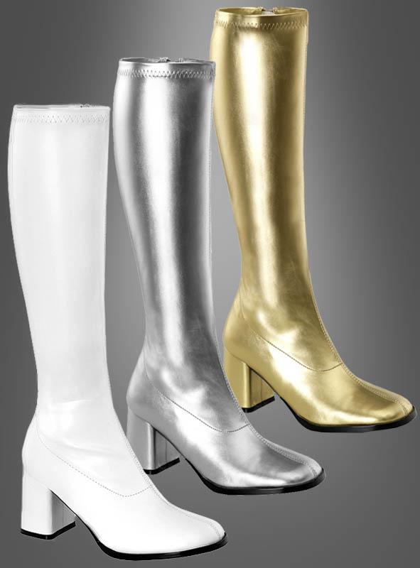 70er Disco Stiefel für Damen bei Kostü