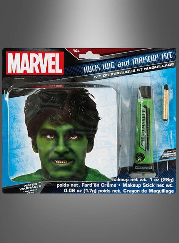 Hulk Perücke und Makeup Set