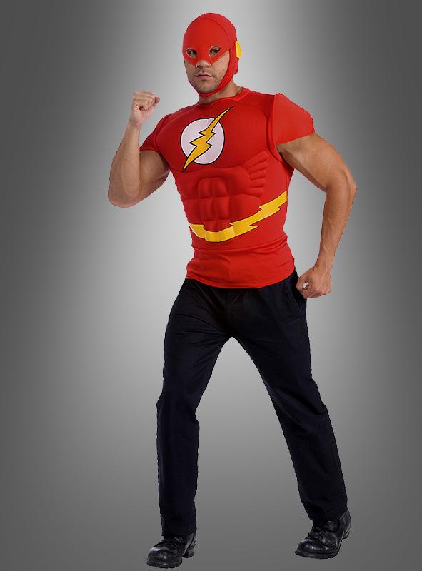 original flash muskelshirt superheld kost m. Black Bedroom Furniture Sets. Home Design Ideas