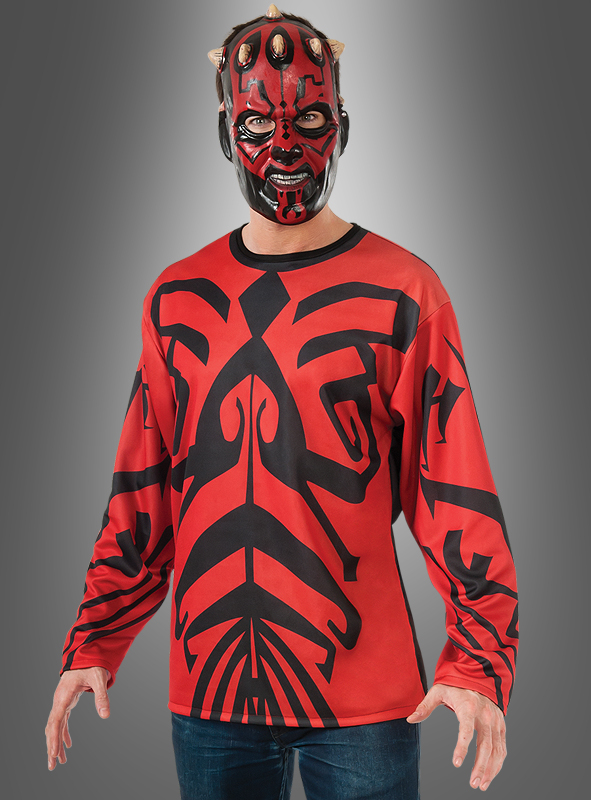 darth maul shirt star wars kost m f r erwachsene karnev. Black Bedroom Furniture Sets. Home Design Ideas