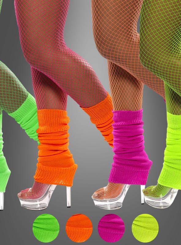 Grüne 80er Jahre Beinstulpen als Kostüm Zubehör für Fasching