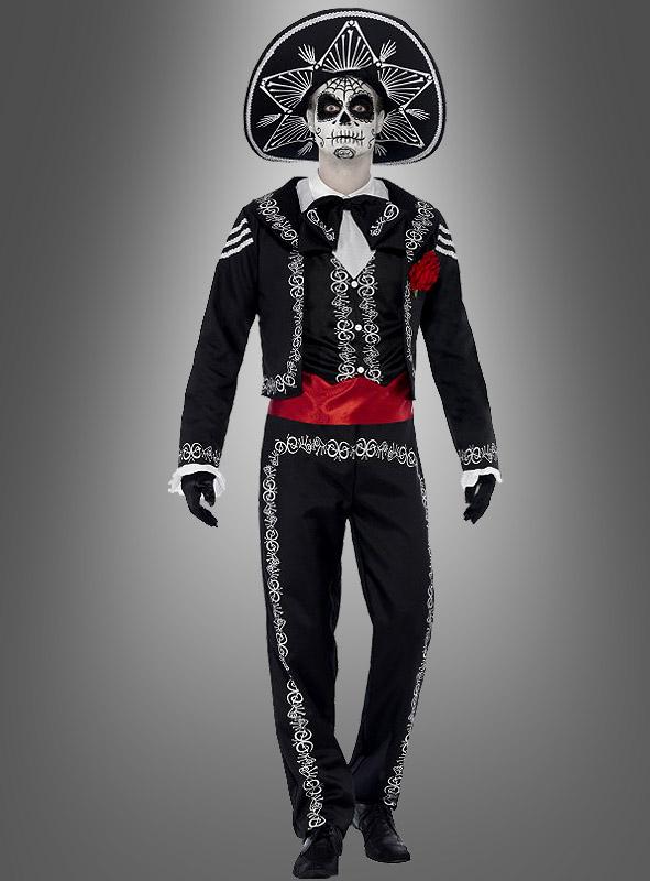 Erwachsene Señor Knochen Kostüm Tag der Toten Skelett Kostüm Halloween S-XL