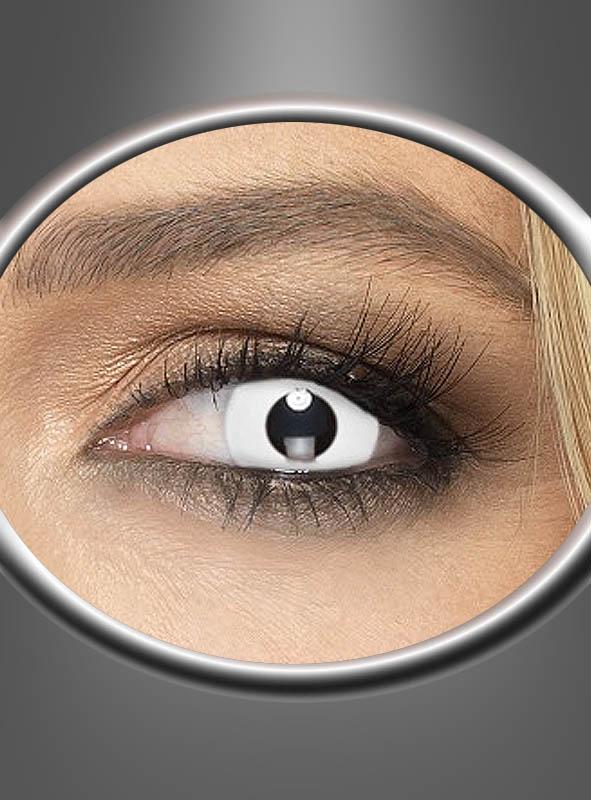 Weiße Kontaktlinsen Zombie bei » Kostü