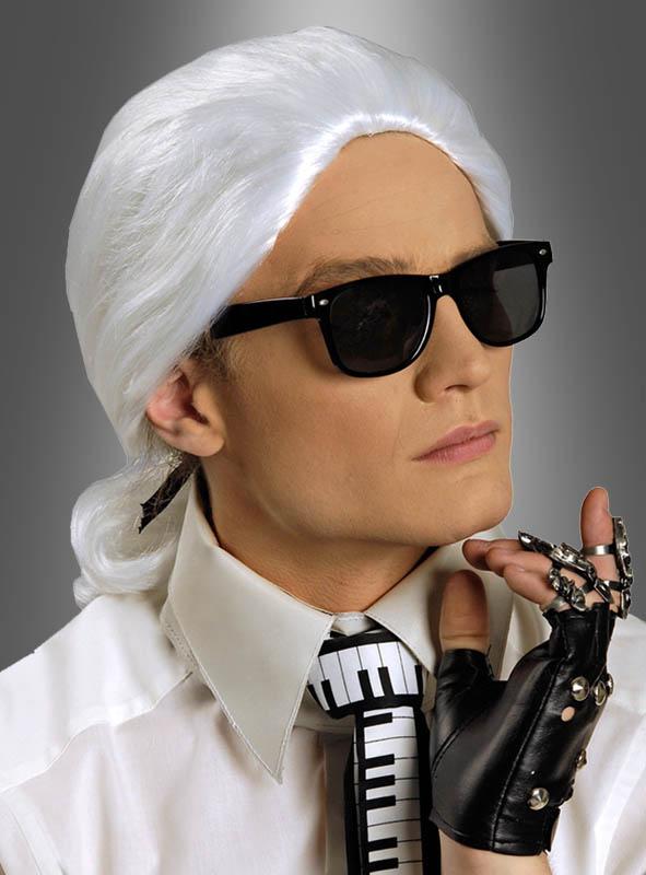 Herren Perücke Karl zum Barock Modeschöpfer Kostüm Karneval Fasching