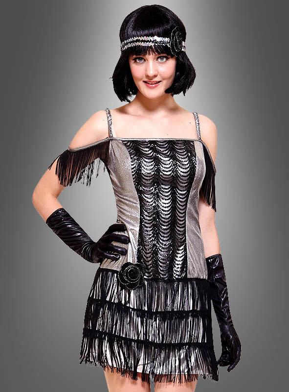 4124587245dabf Flapper Kostüm silber für Damen bei » Kostümpalast