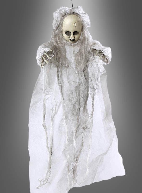Cod.293177 Geister-Puppe-Hängedekoration für Halloween weiss-grau 50cm