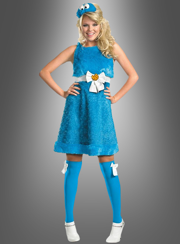 Cookie Monster Kostuem.Sexy Cookie Monster Adult Costume