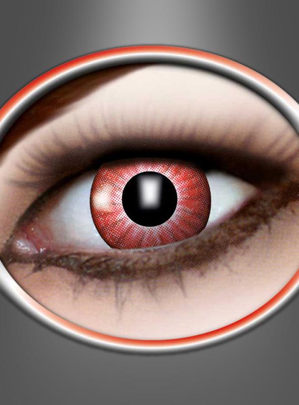 Farbige 3 Monats Kontaktlinsen electric rot