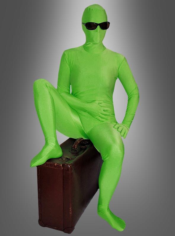 Grüner Speedsuit Spandexanzug