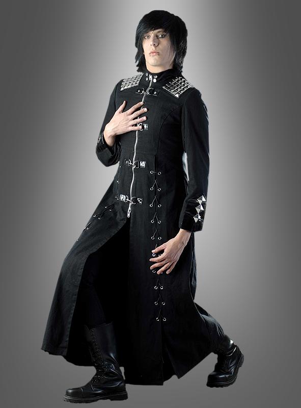 Schwarzer gothic mantel unisex bei - Schwarzer wintermantel damen ...