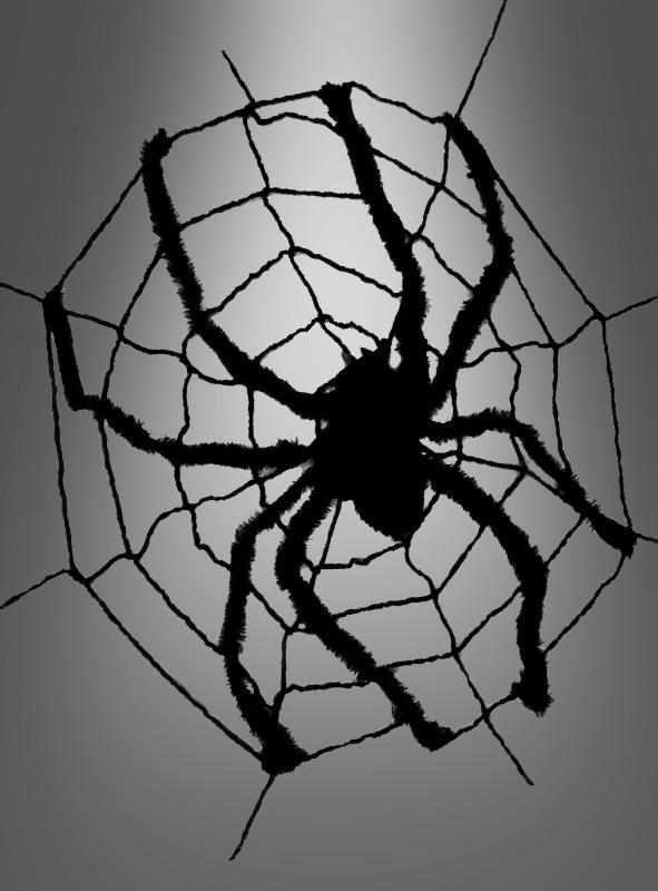 1,7 x 2,50 cm Pin Spinne im Netz