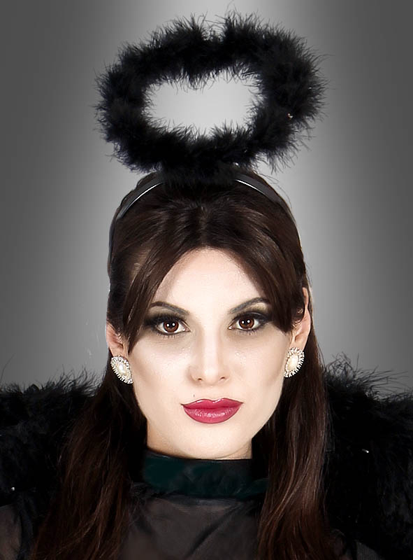 Halloween Schminktipps Schwarzer Engel.Engel Heiligenschein Schwarz Bei Kostumpalast De