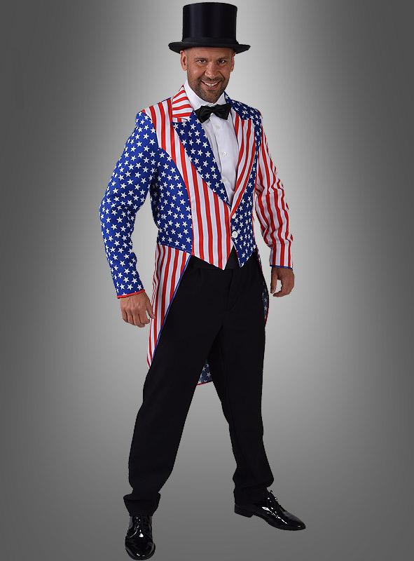 USA Flagge Kostüm Frack für Herren 0b66425c4bb06