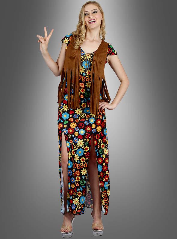 Hippie Flower Dress Peace Girl