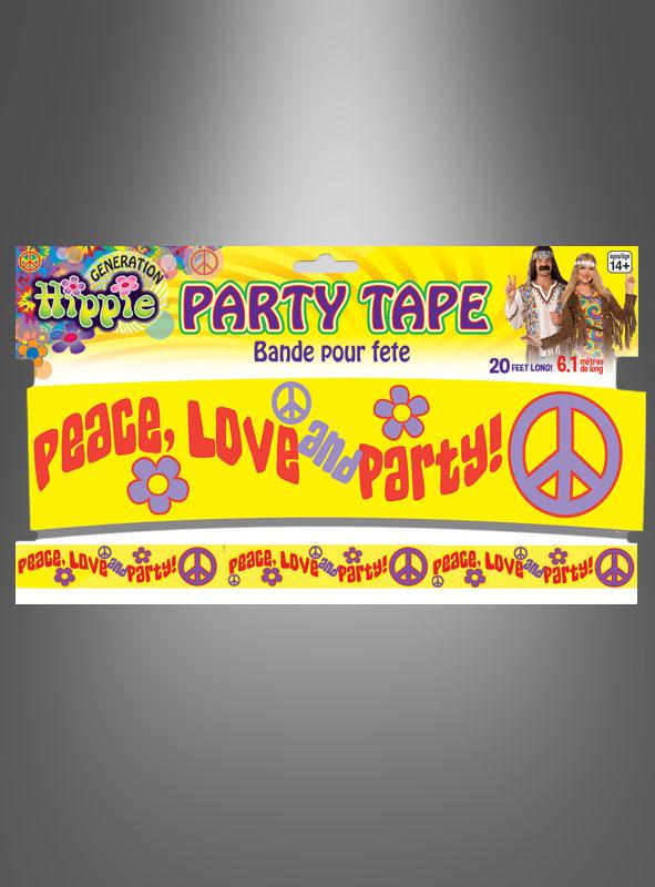 Hippie Mottoparty Dekoration Bei