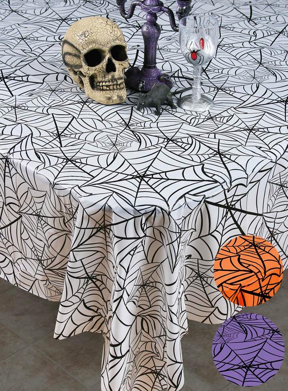 halloween tischdecke spinnennetz kost. Black Bedroom Furniture Sets. Home Design Ideas